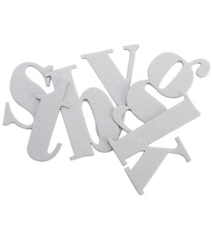 Matthew Lowercase - Chipboard Alphabet 60Pcs