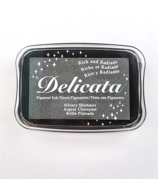Tsukineko Silver Shimmer Delicata Ink Pad