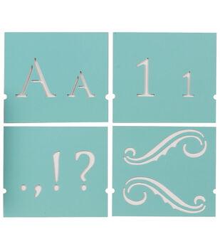 """Martha Stewart Large Alphabet Stencil-Monogram Serif-Font Size 1-1/2"""""""