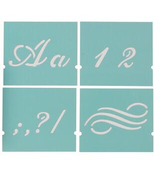 "Martha Stewart Alphabet Stencil 48/Pk-Fancy-Font Size 1-3/8"""
