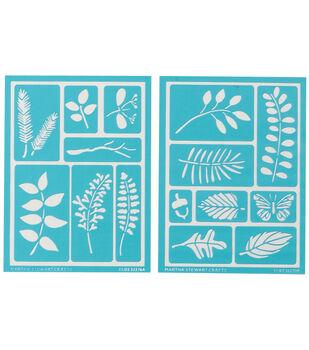 Martha Stewart Adhesive Stencils 2 Sheets/Pk-Leaves