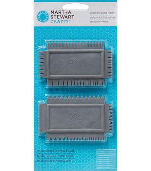 Martha Stewart Grain Striping Comb 2/Pk
