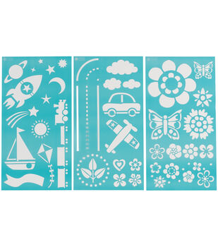 Martha Stewart Large Stencils 3 Sheets/Pk-Playroom