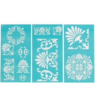 Martha Stewart Large Stencils 3 Sheets/Pk-Tapestry