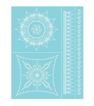 "Martha Stewart Crafts Glass Silkscreen 8.5""X11"" Scroll and Swirl"