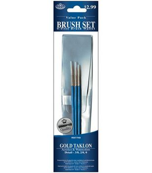 Value Pack Brush Sets-Gold Taklon Detail