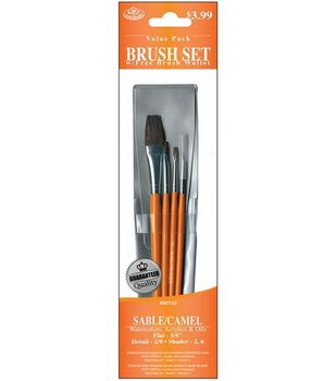 Value Pack Brush Sets-Sable/Camel