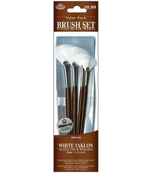 Value Pack Brush Sets-White Taklon Fan