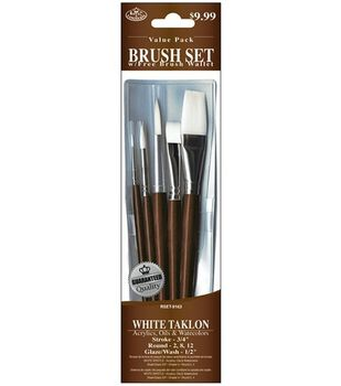 Value Pack Brush Sets-White Taklon