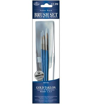 Value Pack Brush Sets-Gold Taklon Round