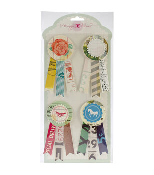 Styleboard Adhesive Layered Prize Ribbons 4/Pkg-