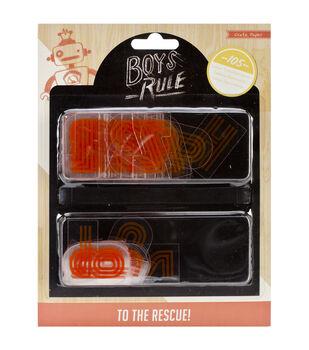 Boys Rule Plastic Letters 105/Pkg-