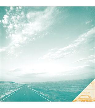 """Open Road Double-Sided Cardstock 12""""X12""""-Desert Inn"""
