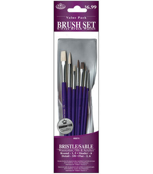 Brush Set Value Pack Bristle/Sable 7/Pkg