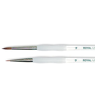 Royal Brush-Soft-Grip Pure Sable Detail & Round Brushes-Size 5/0