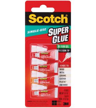 3M Scotch Single Use Super Glue Gel 4Pk-0.017 Ounces