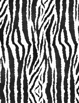 Plush Felt- Black Zebra On White