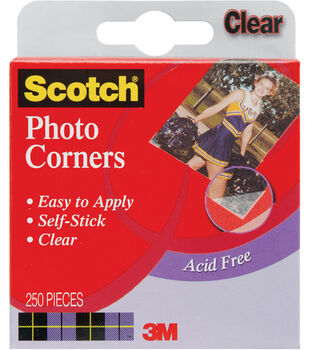 Scoth Self-Stick Photo Corners-250PK/Clear