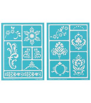 Martha Stewart Adhesive Stencils 2 Sheets/Pk-Scrolls