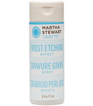 Martha Stewart 6oz Frost Etching Effect