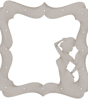 Die-Cut Grey Chipboard Embellishments-Show Girl Frame