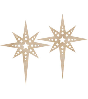 Wood Flourishes-Christmas Star 2/Pkg