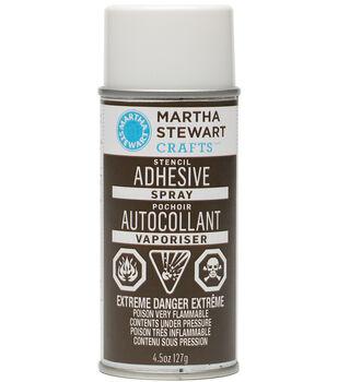 Martha Stewart Repositionable Stencil Adhesive-4.5 Ounces