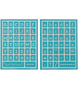 Martha Stewart Adhesive Stencils 2 Sheets/Pk-Typewriter