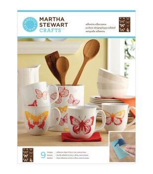 Martha Stewart Crafts Glass Silkscreen Butterflies