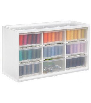 Store-In-Drawer Cabinet W/9 Transparent Drawers