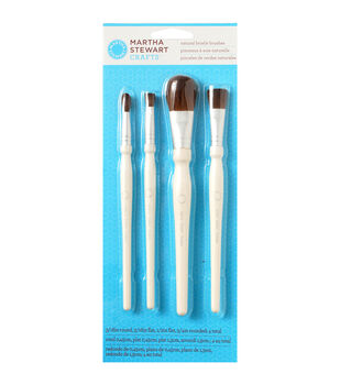 Martha Stewart Natural Bristle Brush Set Of 4-