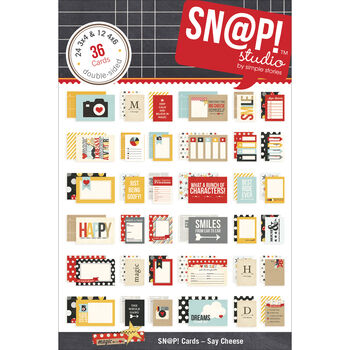 Simple Stories Say Cheese Double-Sided Card Pack Sn@p!