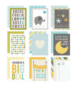"""Sn@p! Double-Sided Card Pack 3""""X4"""" 48/Pkg-Baby Boy"""