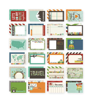 """Sn@p! Double-Sided Card Pack 4""""X6"""" 24/Pkg-Travel"""