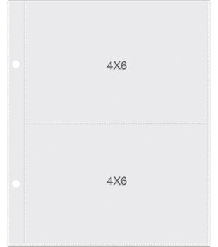 """Sn@p! Pocket Pages For 6""""X8"""" Binders 10/Pkg-(2) 4""""X6"""" Pockets"""