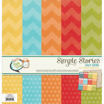 Simple Stories Daily Grind Simple Basic Paper Kit