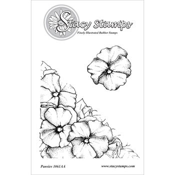Stacy Stamps Cling Mounted Stamps Pansies