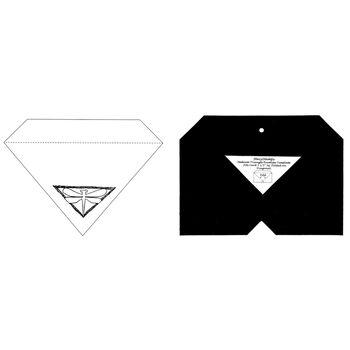 Stacystamps Medium Triangle Envelope Template