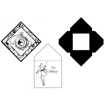 Stacystamps Square Shaker & Envelope Template