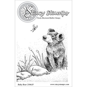 Stacy Stamps Cling Mounted Stamps Baby Bear