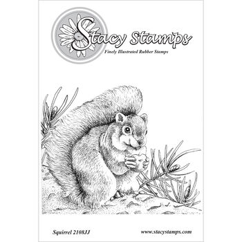 Stacy Stamps Cling Mounted Stamps Squirrel