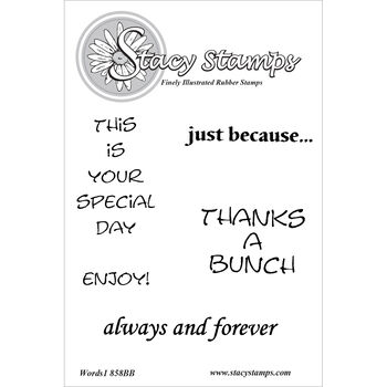 Stacy Stamps Cling Mounted Stamps Words I