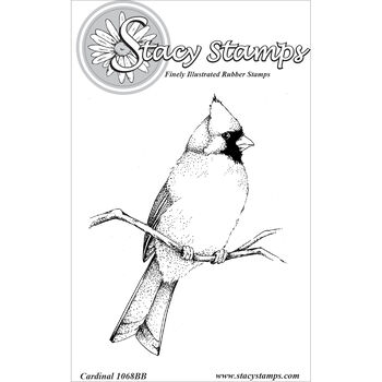 Stacy Stamps Cling Mounted Stamps Cardinal