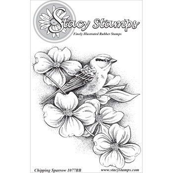 Stacy Stamps Cling Mounted Stamps Chipping Sparrow