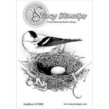 Stacy Stamps Cling Mounted Stamps Gold Finch