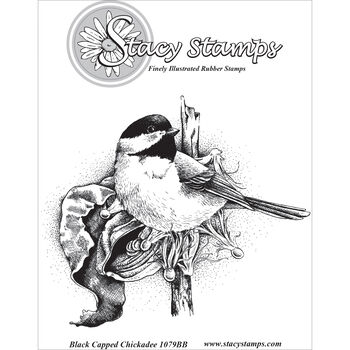 Stacy Stamps Cling Mounted Stamps Black Capped Chickadee
