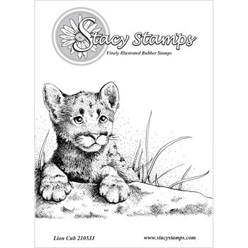 Stacy Stamps Cling Mounted Stamps Lion Cub