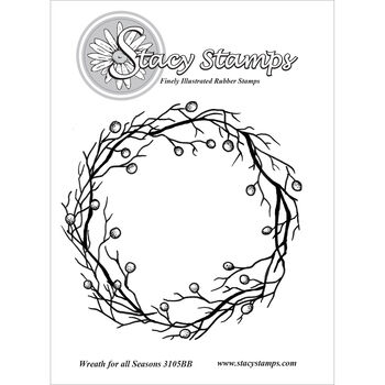 Stacy Stamps Cling Mounted Stamps Wreath For All Seasons