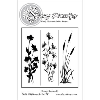 Stacy Stamps Cling Mounted Stamps Solid Wildflowers
