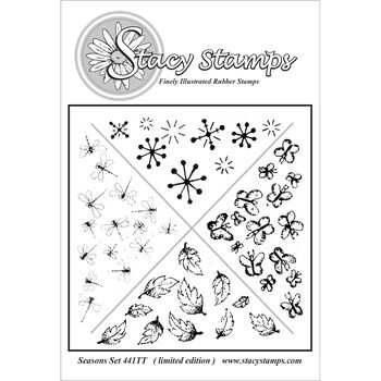 Stacy Stamps Cling Mounted Stamps Seasons Set